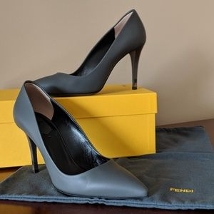 Grey Fendi pumps